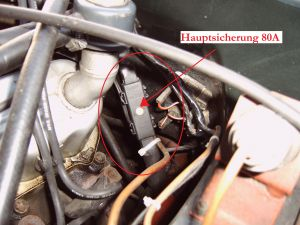 TVR S Retrofitting of main fuses-Haupsicherung-80A