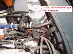 TVR S Retrofitting of main fuses-Hauptsicherungen-50A
