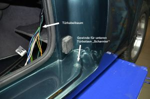 02-TVR S Remove the door-untere Tuerbefestigung
